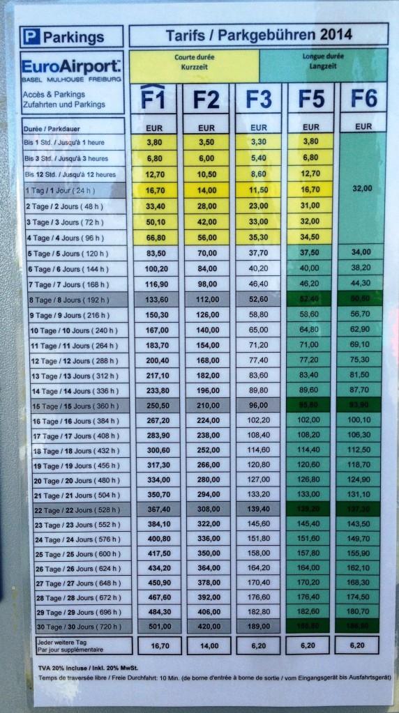 precios parking basel