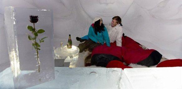 Zimmer Romantik Iglu Eisrose