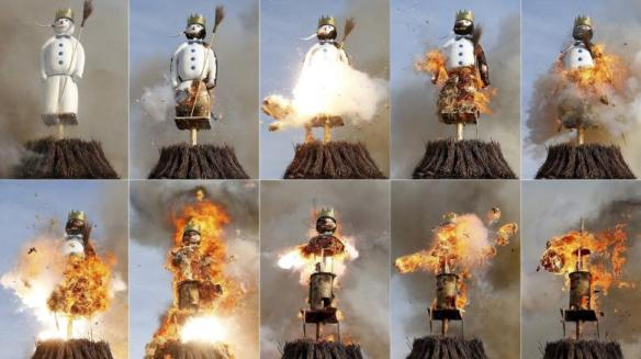 A-combination-of-pictures-shows-the-Boeoegg-a-snowman-made-of-wadding-and-filled-with-firecrackers-burning-atop-a-bonfire-in-the-Sechselaeuten-square-in-Zurich
